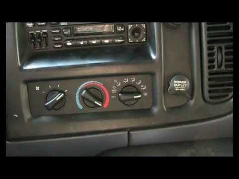 1998-2003 Dodge ram van blower switch repair guide