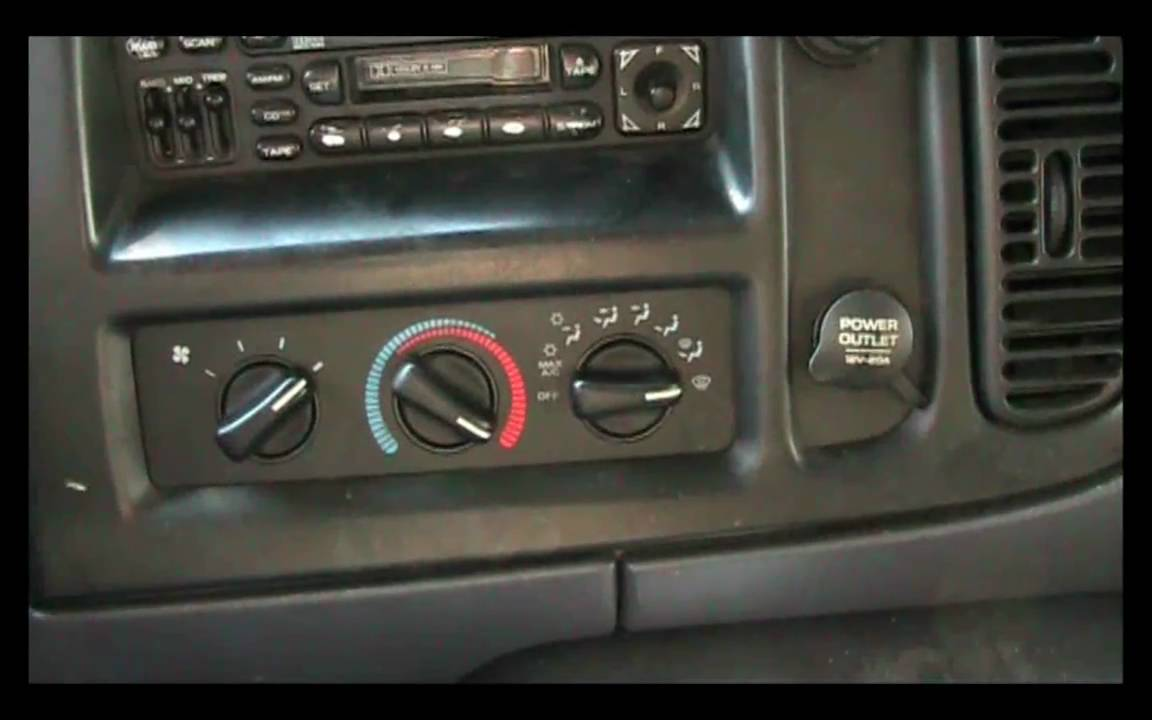 1998-2003 Dodge ram van blower switch repair guide - YouTube
