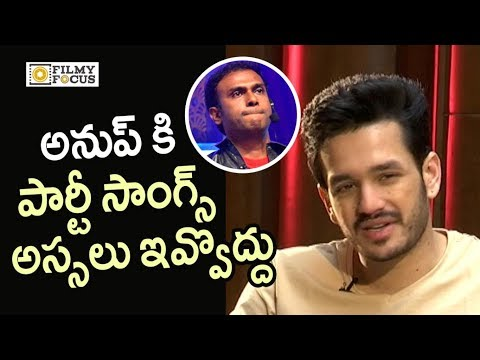 Akhil about Anup Rubens Grip towards Melody Songs - Filmyfocus