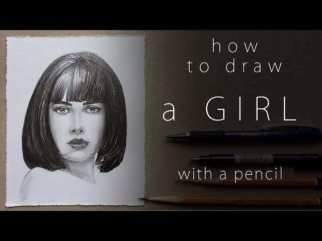 Как нарисовать девушку How to draw a girl