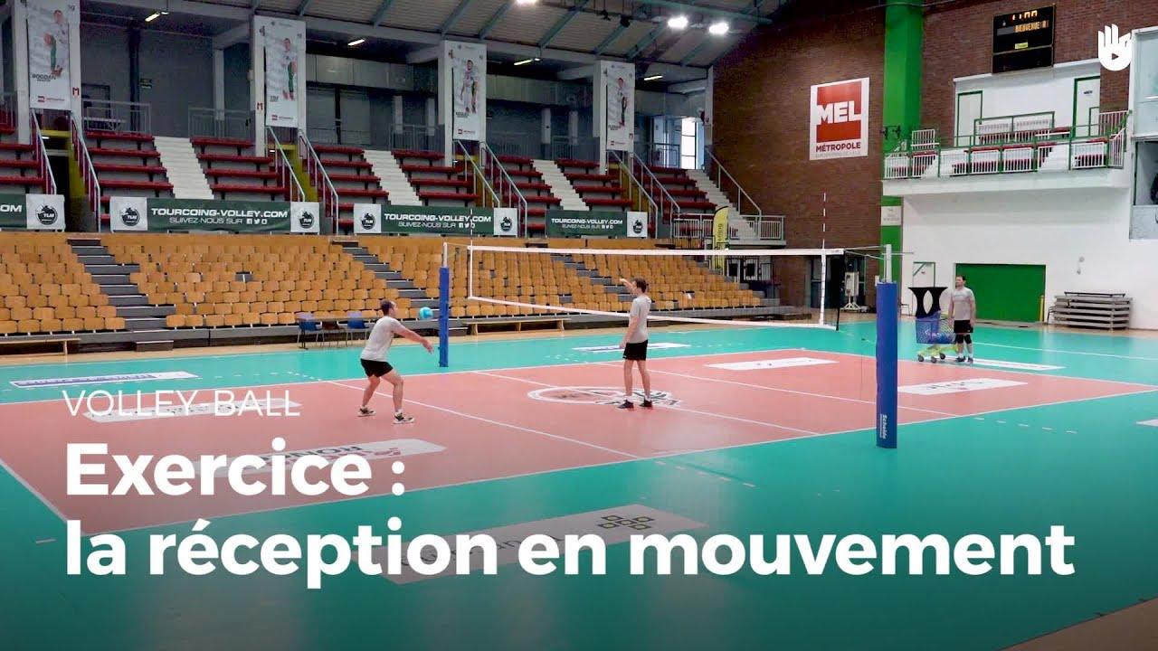 Exercice de réception : la réception en mouvement   Volley ...