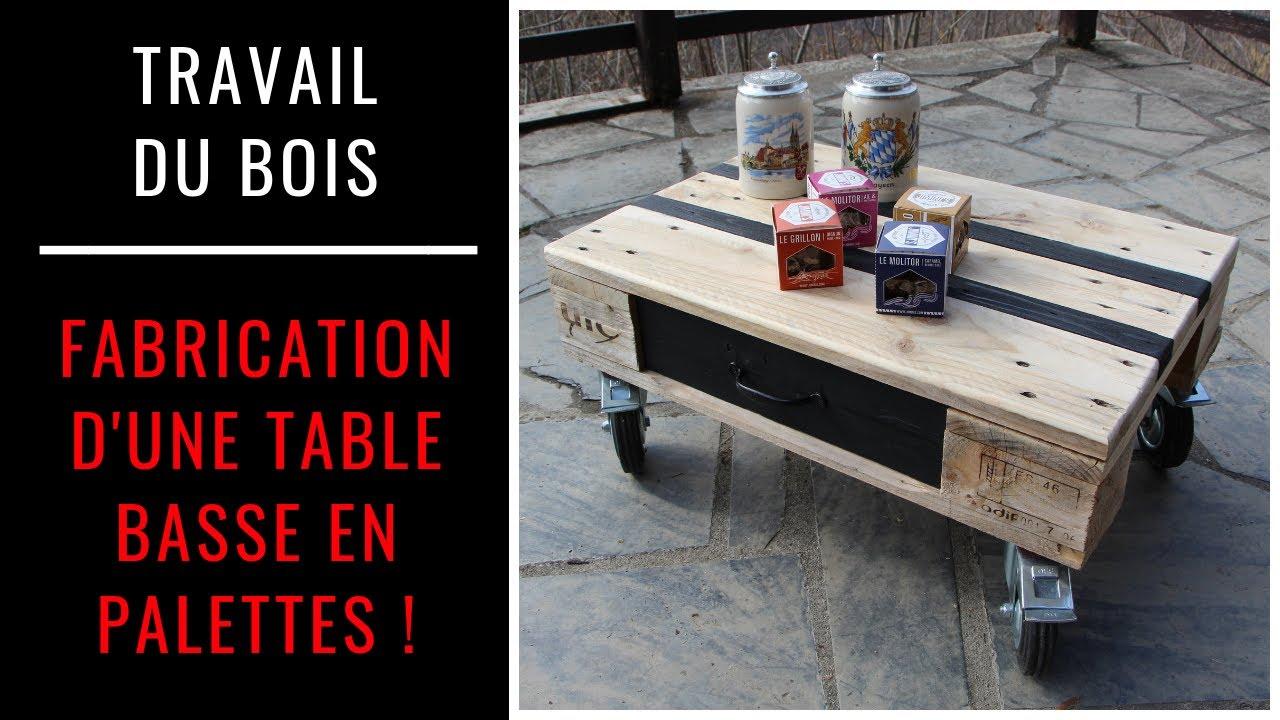 comment fabriquer une table basse en palette projet en bois facile