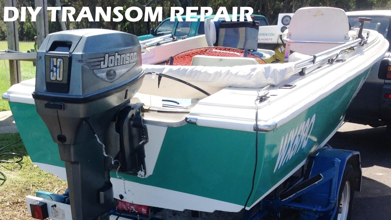 Boat Transom Repair Made Easy Diy Youtube