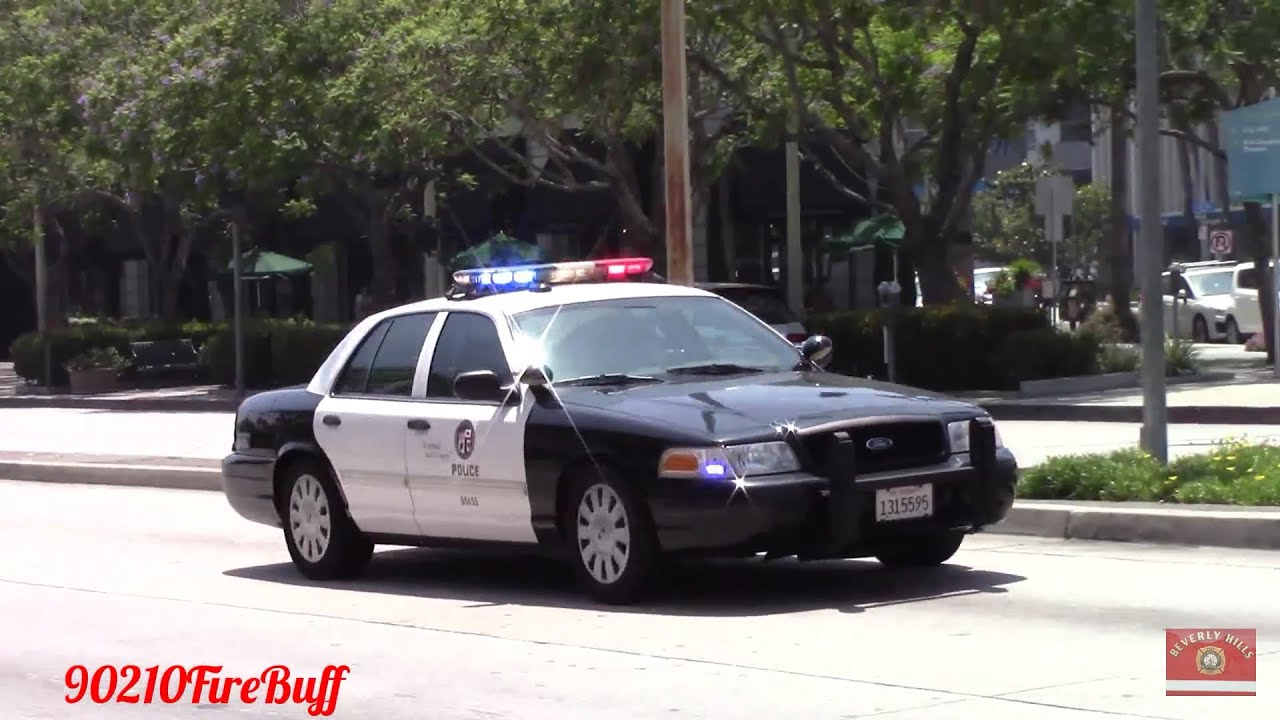 Lapd Crown Vic Responding Code 3 In Culver City Youtube