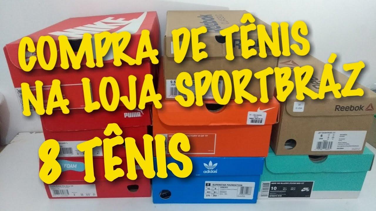2934cc3594c Meus TÊNIS da Loja SPORTBRAS   RUA Maria Marcolina - YouTube