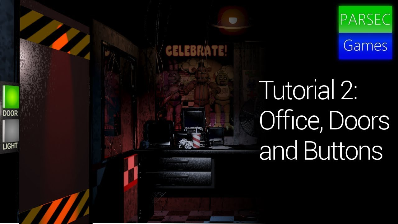 How To Make A Fnaf Game On Scratch | Ep 2 | Office, Doors and Buttons |  ParsecGames