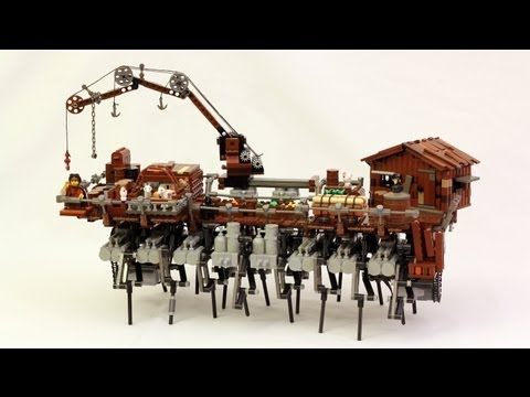 Post-Apocalyptic LEGO Ship Can Walk Around on Dry Land