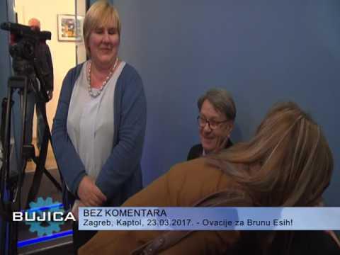 ZAGREB: OVACIJE ZA BRUNU ESIH NA PROMOCIJI DUJMOVIĆEVE KNJIGE! (Bujica)