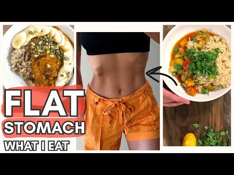 WHAT TO EAT FOR A FLAT STOMACH | Vegan Meal Plan