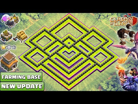 NEW TH8 FARMING BASE 2018 | New BEST TH8 Base Design - Clash of Clans 2018