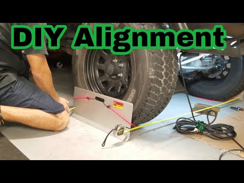 How to Front End Alignment  DIY Jeep Xj Cherokee Tj Jk wrangler