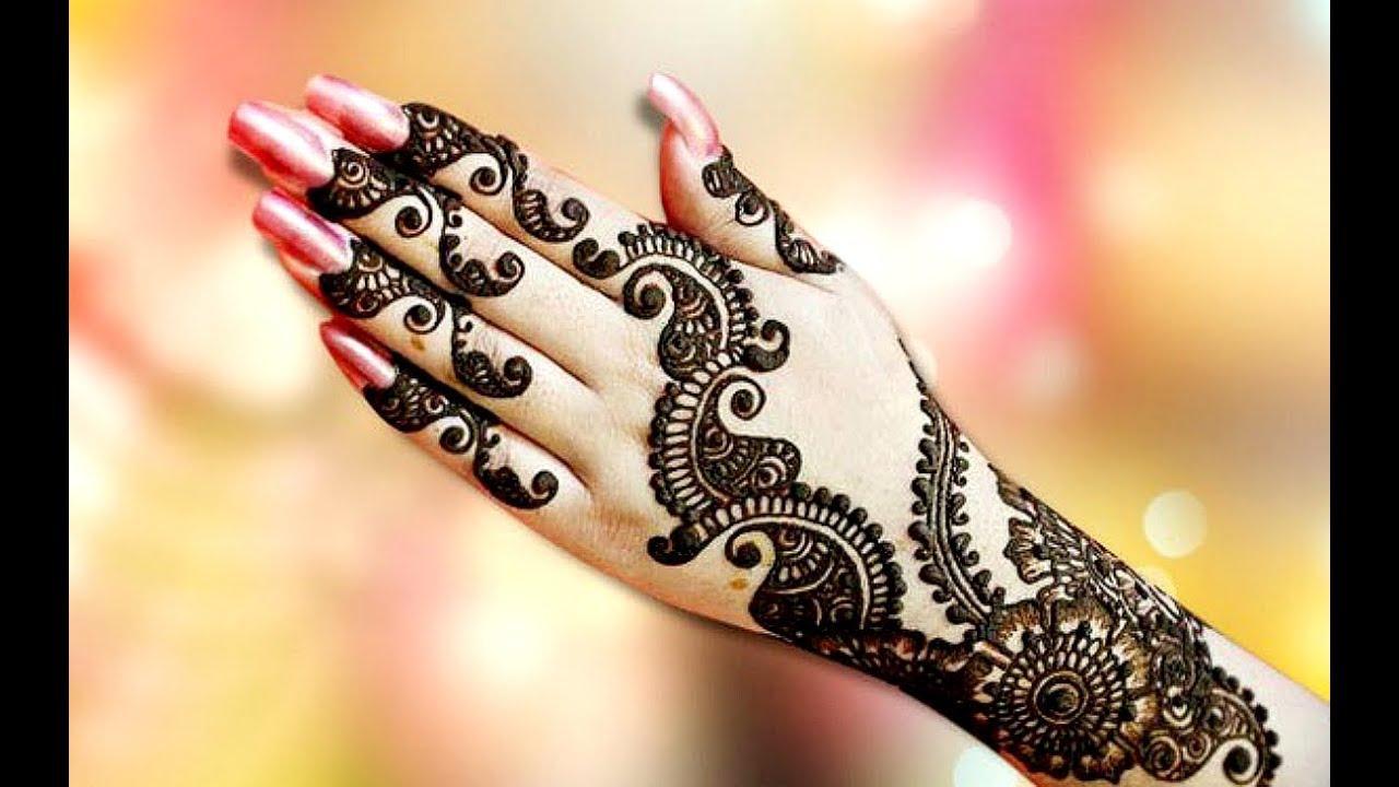 Mehndi Designs Hands Photo Gallery : Fancy heena mehendi designs youtube