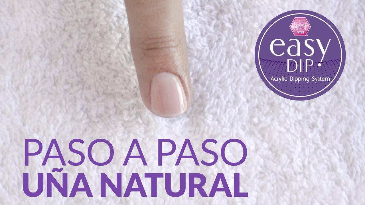 Paso a paso Easy Dip en uña natural por Laura Guzmán / Magic Kristal ...