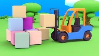 Мультфильм  про машинки - Веселый конструктор - Сборник любимых серий  - для самых маленьких