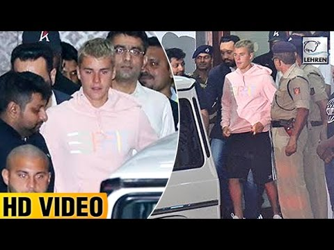 Justin Bieber's GRAND Welcome At Mumbai Airport | LehrenTV