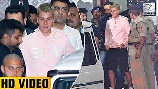 Justin Bieber's GRAND Welcome At Mumbai Airport | LehrenTV