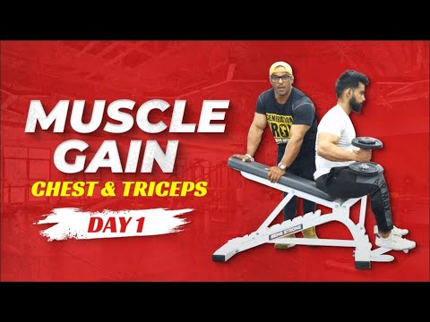 Full Week Workout Plan for Muscle Gain | Day 01 - Chest & Triceps | Yatinder Singh