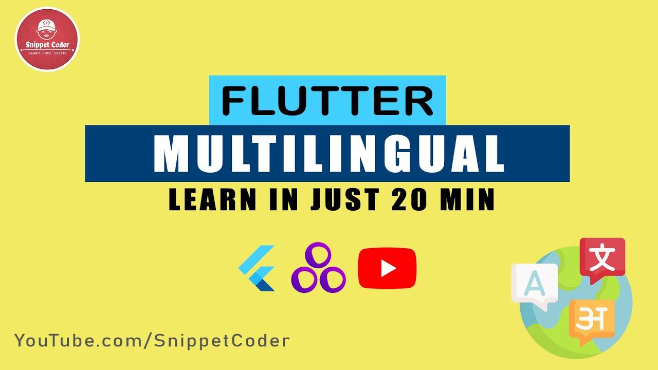 Make your Flutter app Multilingual in just 20 min