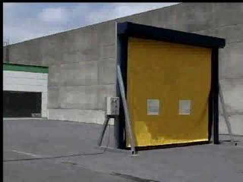DYNACO Rollup door - Crash test
