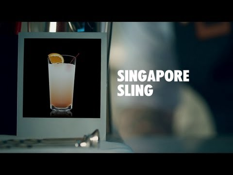 SINGAPORE SLING DRINK RECIPE - HOW TO MIX