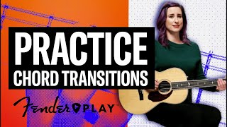 how to transition between g + c chords | fender play | fender