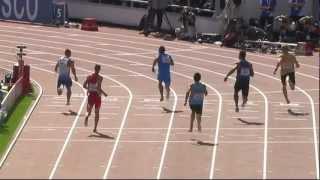 Careful : Shocking images of  Georgiev (bulgarian athlet) who broke his knee in 100 m. Helsinki