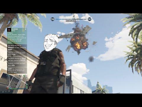GTA V Online: Hydra Jet Bomb Trolling