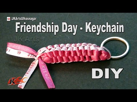 DIY: Friendship Keychain    Gift Idea   How to make   JK Arts 1026