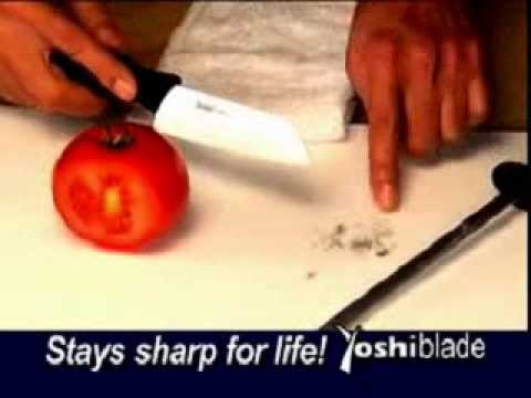 Yoshi Blade Commercial World S Best Ceramic Knife As Seen On Tv Youtube