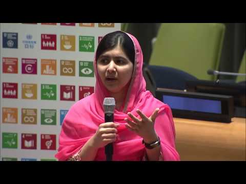 Malala Yousafzai (UN Messenger of Peace) conversation about girls' education