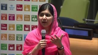 Malala Yousafzai (UN Messenger of Peace) conversation about girls' education