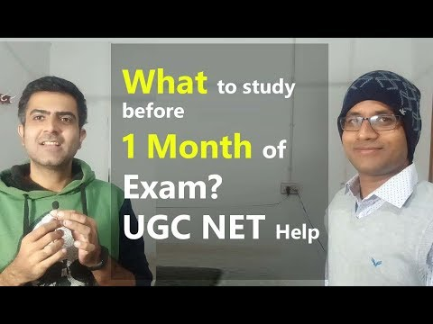 What to study before 1 month of UGC NET Exam