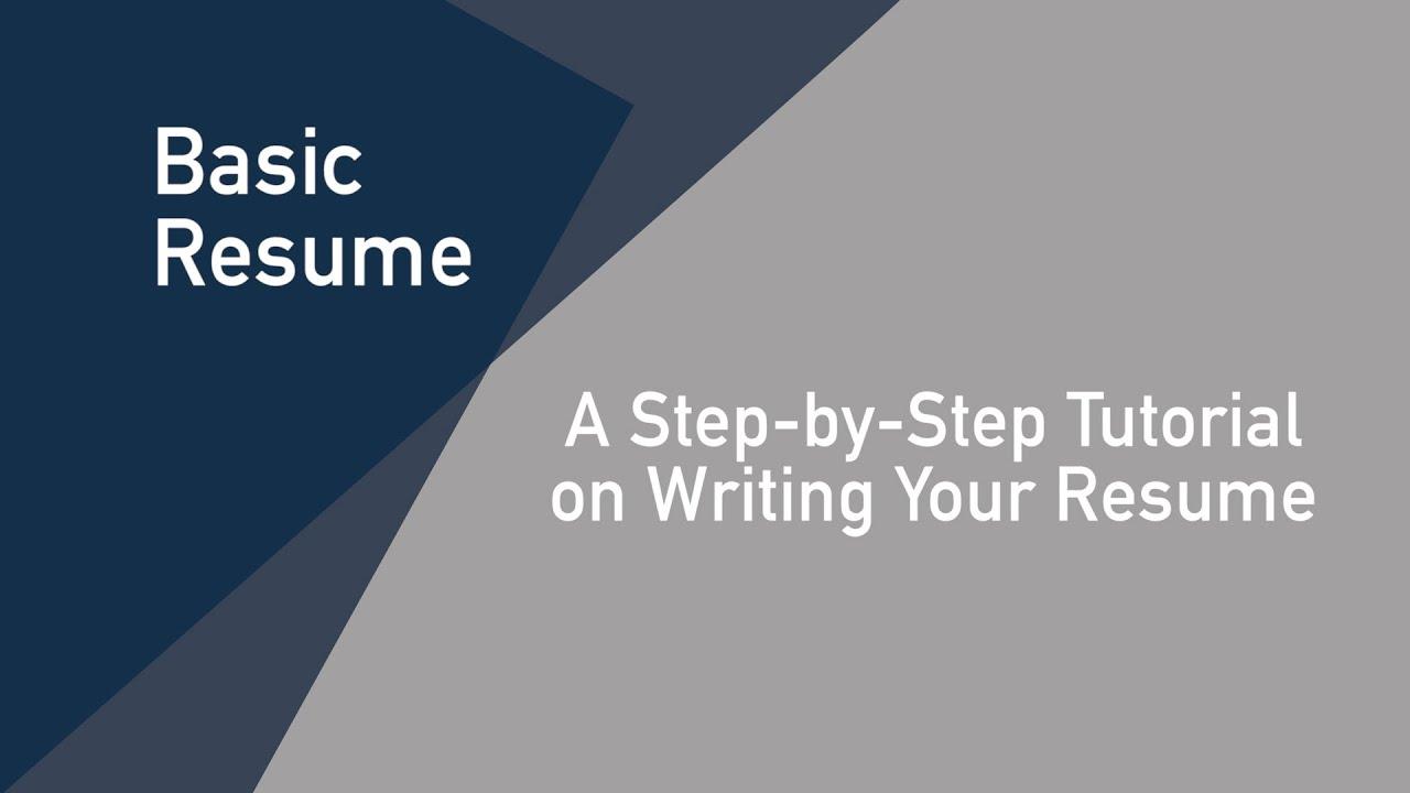 jessup basic resume steps youtube