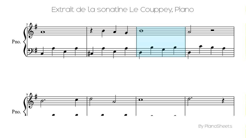 Piano scarborough fair piano sheet music : Extrait de la sonatine Le Couppey [Piano Solo] - YouTube