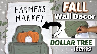 DIY Dollar Tree Fall Wall Decor | Fall Truck Sign | Krafts by Katelyn