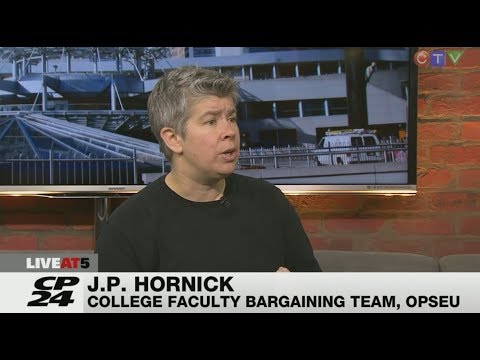 Ontario College Strike - Day 1 - JP Hornick talks about the government under-funding - October 2017