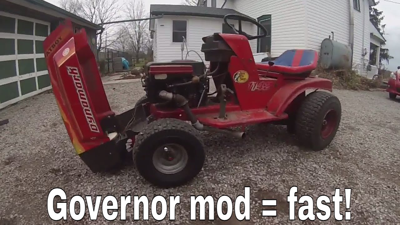 How To Make A Lawn Tractor Fast! Governor Adjustment Mod
