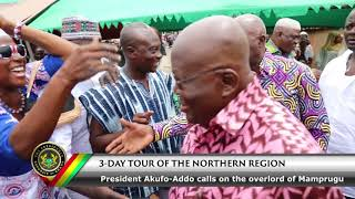 3-Day Tour of Northern Region; President Calls on Overlord of Mamprugu