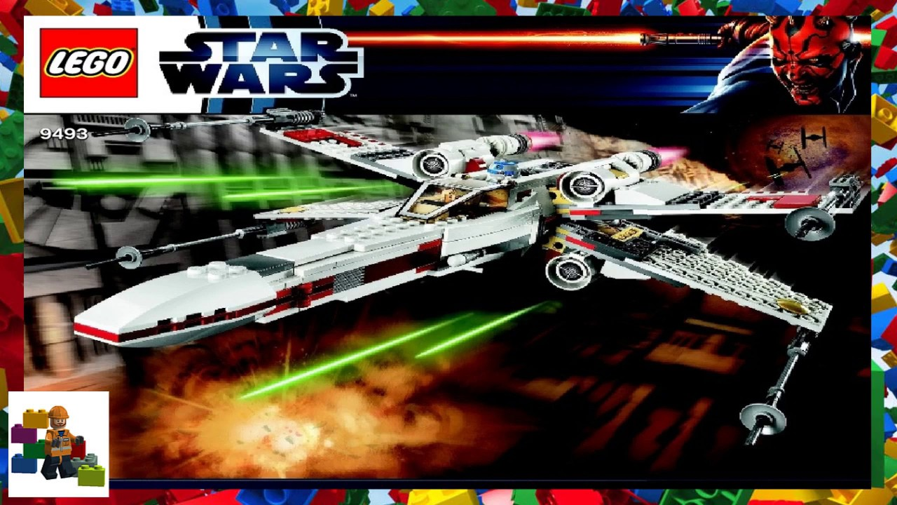 Lego Instructions Star Wars 9493 X Wing Starfighter Youtube 75102 Poeamp039s Fighter