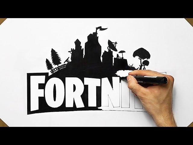 How To Draw Fortnite Logo Like A PRO - Fan Art