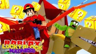 ROBLOX Adventure - LUCKY BLOCK MADNESS w/ TINY TURTLE!!