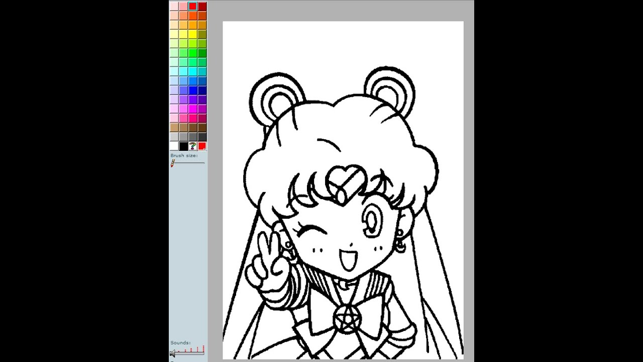 sailor moon coloring pages online sailor moon coloring pages games