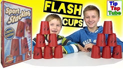 Flash Cups Sport Stacking Kit Pegasus Spiele Becher Pyramiden stapeln TipTapTube Kinderkanal