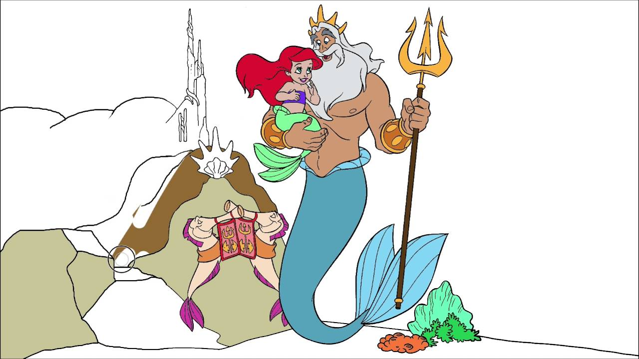 the little mermaid coloring page 5 little hands coloring book