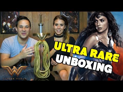 Ultra Rare Wonder Woman Movie Memorabilia Unboxing