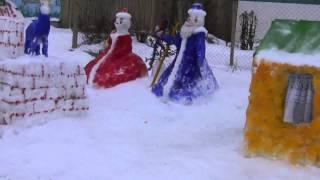 Ледовый городок в деревне 2015 года. Какие снежные фигуры можно сделать из снега.