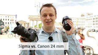 Canon EF 24 mm f/1.4L II vs. Sigma 24 mm f/1.4 Art - Prime-Duell im Weitwinkel [Deutsch]