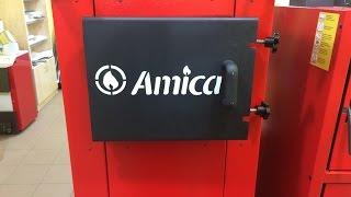 Твердотопливный котел длительного горения Amica Time Обзор(Твердотопливный котел длительного горения Amica 20 кВт Обзор. Котел работает на дровах и на угле (48ч.) на одной..., 2015-11-26T16:08:47.000Z)