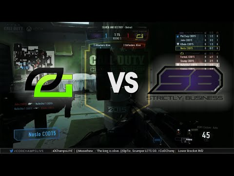 [VoD] OpTic Gaming vs Strictly Business #CODCHAMPS2015