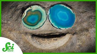 How Do These Cręepy Eyeball Rocks Form?
